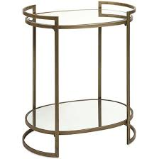 Oval Accent Table Oval Mirror Brass Accent Table