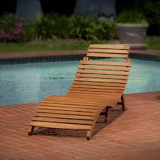 Pool And Patio Furniture Wood Chaise Lounge Good Rest And Comfort Laluz Nyc Home Design