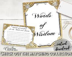 bridal shower words of wisdom glittering gold bridal shower words of wisdom for the and