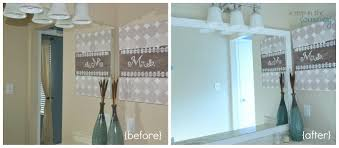 Frames For Bathroom Mirrors How To Frame Your Bathroom Mirror