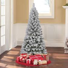 6 artificial flocked pencil pine tree home