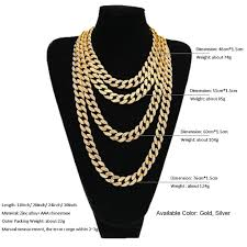 colored chain link necklace images Hip hop jewelry iced out 18k gold plated full rhinestone curb jpg