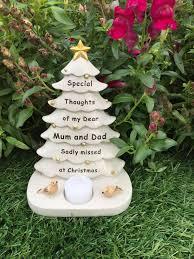 mum u0026 dad christmas tree graveside memorial ornament robin
