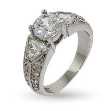wide band engagement rings band cz engagement ring with triangle cz accents s addiction
