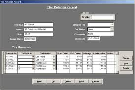 Aircraft Maintenance Tracking Spreadsheet Vehicle Maintenance Software Tire Tracking