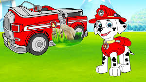 paw patrol marshall fire truck coloring page youtube