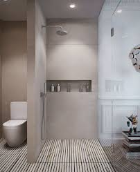 apartments beautiful shower area with raindrop shower heads and