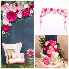 flower backdrop paper flower backdrop photo backdrop flower wall pink wedding