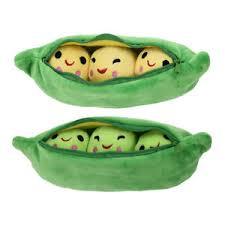 3 peas in a pod peas pillow 3 peas in a pod plush stuffed animal soft