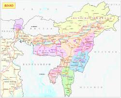 India States Map Road Map Only Nh Ministry Of Development Of North Eastern