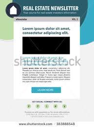 template business nonprofit organization newsletter stock vector