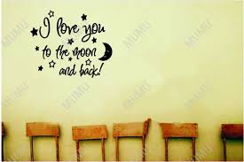 Nursery Sayings Wall Decals Moon Quotes And Sayings You To The Moon And Back Baby