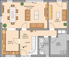 Wohnzimmer Quadratisch Grundriss Kern Haus Familienhaus Signum Grundriss Erdgeschoss Grundrisse