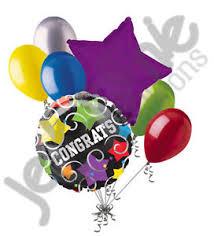 retirement balloon bouquet 7 pc colorful congratulations balloon bouquet appreciation