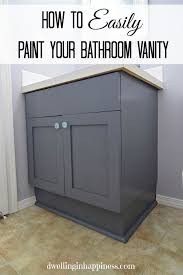 Painting A Bathroom Cabinet - how to paint your bathroom vanity the easy way