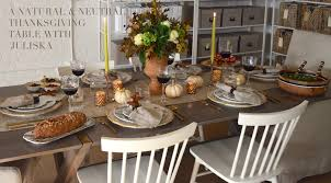 a thanksgiving tablescape with juliska elements of style