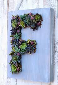 monogram faux succulent wreath fynes designs fynes designs