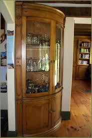 Oak Curio Cabinet Cozy Oak Curio Cabinets With Curved Glass 2 Oak Corner Curio