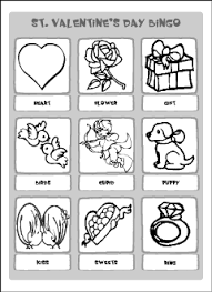 valentine u0027s day vocabulary for kids learning english printable