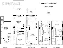 Brooklyn Brownstone Floor Plans Restaurateur Keith Mcnally U0027s Gorgeous West Village Townhouse Is