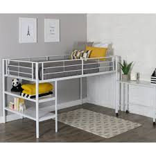 White Bunk Bed Frame Bedroom Furniture Loft Bed Prices Metal Childrens Bed Childrens