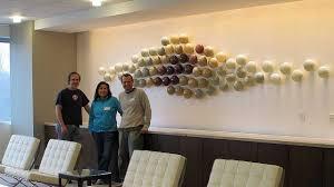 art glass wall sculpture installation bernard katz glass youtube
