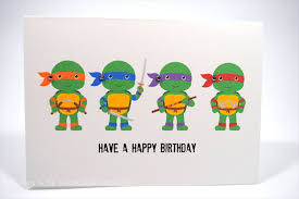 ninja turtle birthday cards teenage mutant ninja turtles thank you