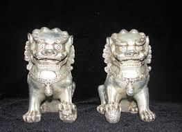 foo lion statue aliexpress buy tibetan silver carved pair foo