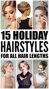 15 holiday hairstyles for all hair lengths