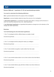hypothesis worksheet for 28 templates hypothesis independent