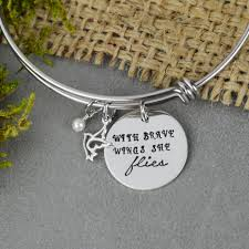 adjustable bangle bracelet images With brave wings she flies bangle silver statements JPG
