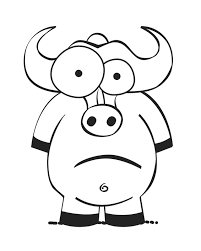 crazy eyed ox free printable coloring pages coloring