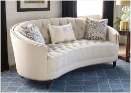 Curved Back Sofas Vintage Tufted Curved Back Sofa Finding Curved Back Button