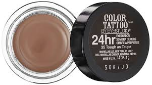 amazon com maybelline 24 hour eyeshadow tough as taupe 0 14