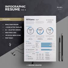 Flat Resume Design Free Infographic Resume Templates Top 25 Best Resume Examples
