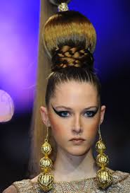 hair style for spring 2015 slicked up hair with braids buns in zareena spring summer 2015