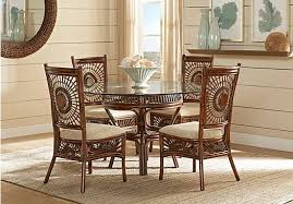 affordable dining room furniture island sunrise brown rattan 5 pc dining set room set dining sets