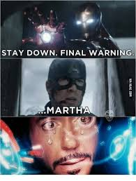 Martha Meme - stay down final warning martha martha meme on me me