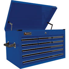 homak pro 27in 9 drawer top tool chest u2014 blue 26in w x 17 1 2in