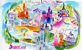 Disney Map Mindy Lacefield Disney Journal Pages