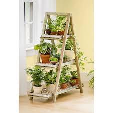 sharpex a frame solid wood garden planter shelf garden plant stand