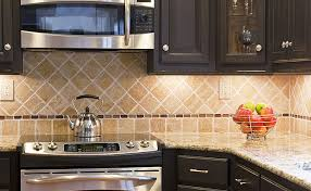 stylish kitchen backsplash tile ideas tumbled stone backsplash