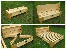 Bed Frame Bench Amazing Of Diy Folding Bed 25 Best Ideas About Folding Bed Frame