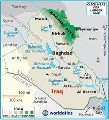 baghdad world map iraq map geography of iraq map of iraq worldatlas
