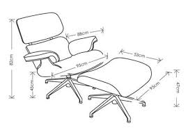Armchair Dimensions Eames Lounge Chair Measurements Inspirational Qyqbo Com