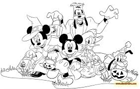 Printable Disney Halloween Coloring Pages 100 Ideas Mickey Mouse Halloween Coloring Pages On