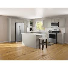 home depot kitchen cabinets hton bay courtland shaker assembled 30 in x 34 5 in x 24 in stock sink base kitchen cabinet in sterling gray finish