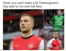 Arsenal Tottenham Meme - arsenal fans trolled the best north london derby memes daily