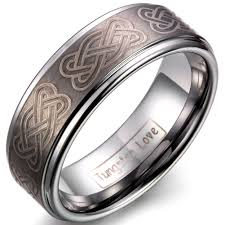 comfort fit ring jewelrywe unisex mens tungsten carbide infinity celtic knot