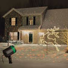 Halloween House Light Show by Star Shower Laser Light Projector Outdoor Christmas Show Night